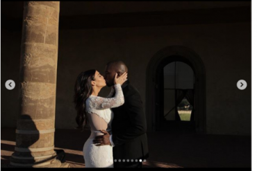 [Photos]: Kim Kardashian shares more stunning photos from her wedding
