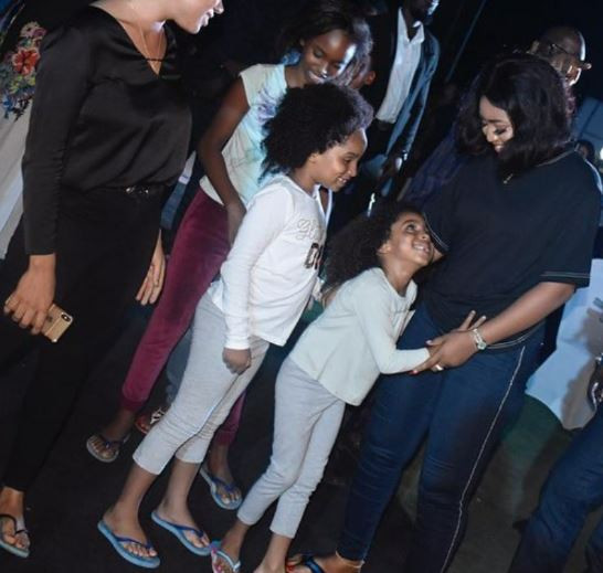 [Photos]: Regina Daniels steps out with her husband and his kids