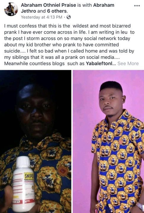 52F13A36 8AC3 47E8 B249 FD0BFFE1C1BC - Nigerian man who faked his death explains why he did it