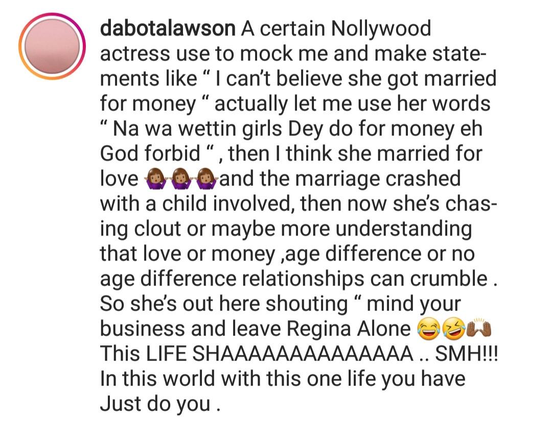 Dabota Lawson drags Yvonne Jegede on social media
