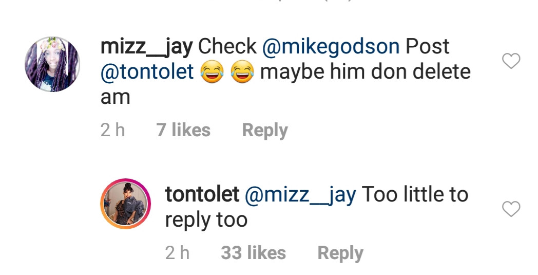 'He is too little for me to reply to' - Tonto Dikeh on Mike Godson's shade