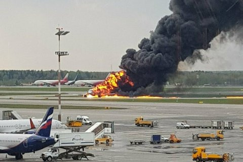 [Photos]: 41 dead as plane crashes in Moscow