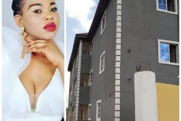 Nigerian single mom shows off her new mansion as she turns a year older