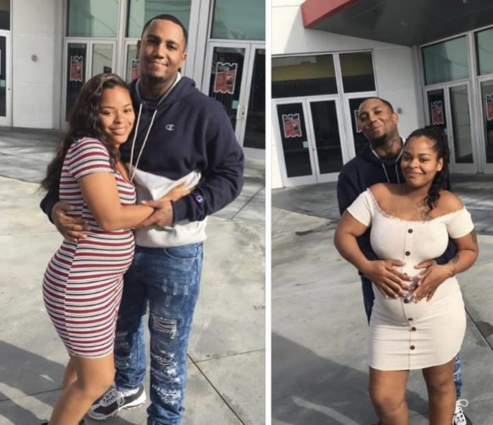 Good news? Twin sisters pregnant for the same man