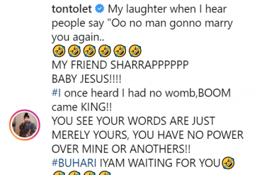 'Baby Jesus Sharap' – Tonto Dikeh Blasts Trolls