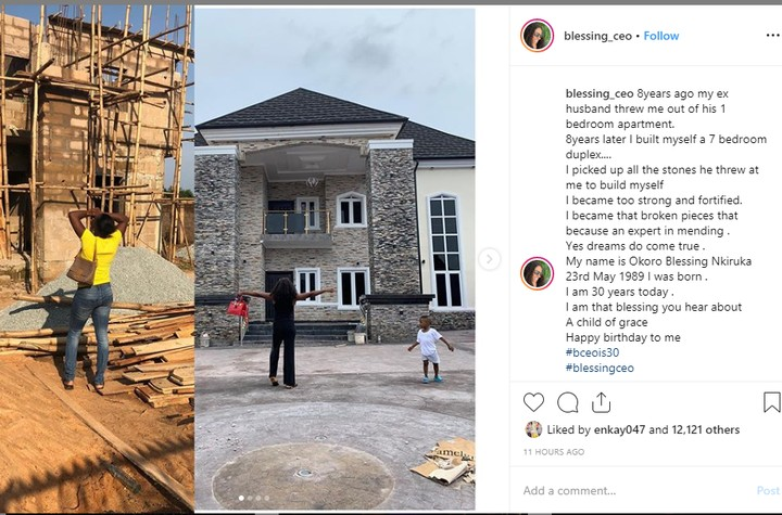 9464922 bloggerokoroblessingshowsoffduplex8yearsafterexhusbandthrewheroutunclesuru1 jpeg4cff774ba0febe244278284f7463444f - Blogger, Blessing Okoro Reveals How She Built Mansion After Being Kicked Out of 1-Room Apartment