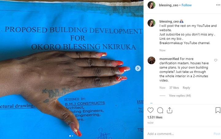 9485031 okoroblessingsharesherbuildingplancountersclaimofrealestateownerunclesuru1 jpeg50b249a84f7b590588382c64d12a6df7 6 - Blogger, Blessing Okoro Defends Her Acquisition Of New House