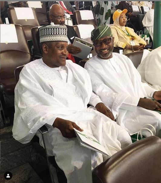 9507230 dangote jpeg37000dfae033a79095f18fa260247c27 - #InaugrationDay19: Femi Otedola, Dangote Spotted At The Inauguration Ceremony [Photo]