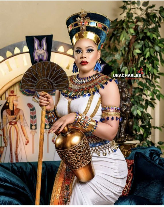 CB5EB580 47E8 42EC BBAA 728DF37BFF6B - [Photos]: Fani Kayode's wife shares Egyptian themed photos from her birthday shoot