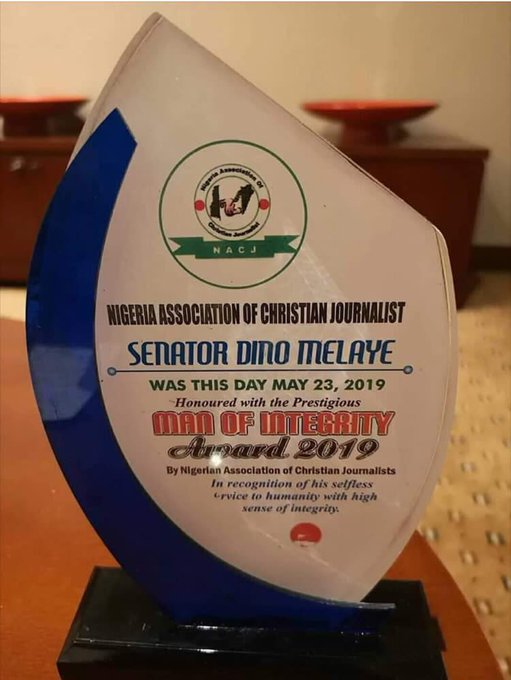 D7a09KHXkAIeGmA 1 - Christian Journalists Honour Dino Melaye With Integrity Award