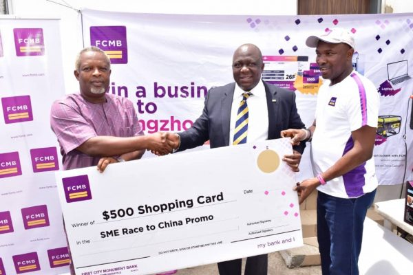 """FC5DFC06 9860 4F8D AD40 16C7EE14146B 600x400 - FCMB Empowers More SME Customers in Season 2 of """"Race to China Promo''"""