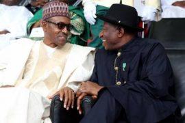 President Buhari and Ex-President Jonathan