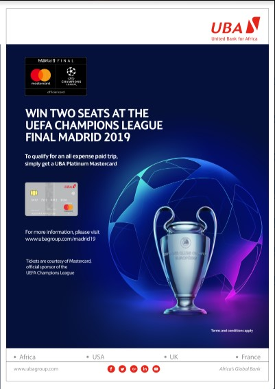 Screenshot 1 1 - UBA partners Mastercard, Rewards Customers with All-Expense Paid Trip to UEFA Champions League Finals