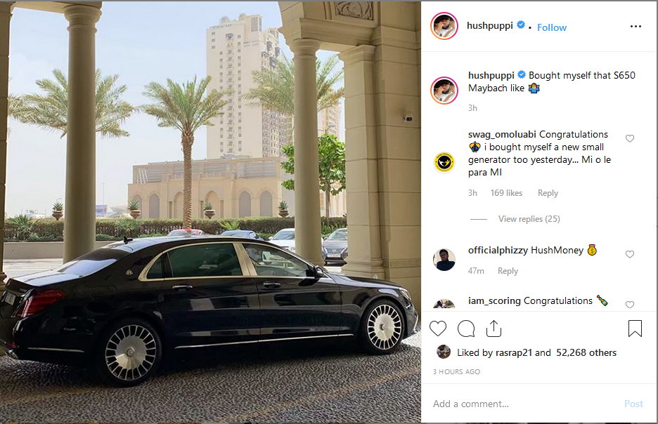 Screenshot 10 1 - Hushpuppi Buys Himself A New Mercedes Maybach S650