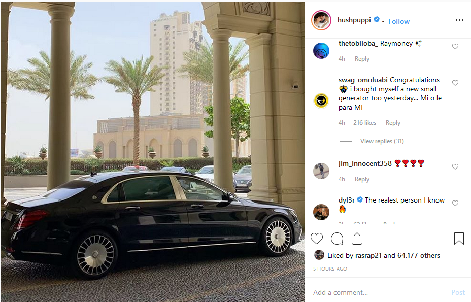 Screenshot 13 1 - Hushpuppi Buys Himself A New Mercedes Maybach S650