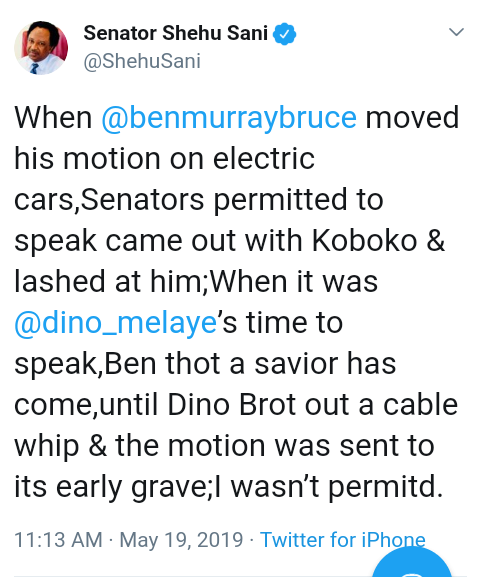 Screenshot 20190519 1358112 1 - Shocking!!! Dino Melaye Used Cable Whip On Ben-Murray Bruce