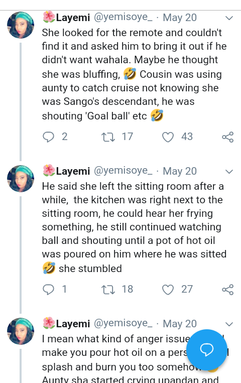 Screenshot 20190521 1533412 - Man Cancels Wedding After Fiancee Pours Hot Oil On His Cousin