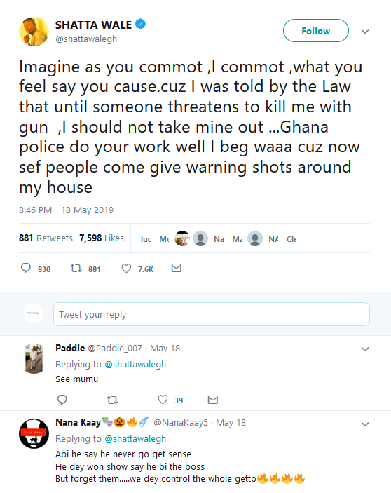 Screenshot 4 - [Video]: Stonebwoy Pulls A Gun At Shatta Wale At The VGMA Award 2019