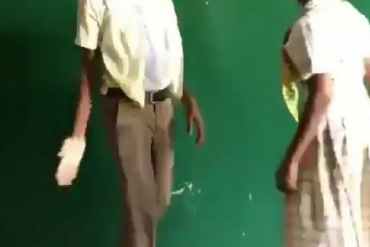 [Video]: Secondary School Boy Resists From Hitting A girl Despite Attacks On Him