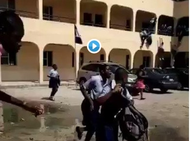 Teargas 5 - [Video]: Secondary School In Disarray as SS2 and SS3 students go head-to-head with Teargas and Guns In Rivers State