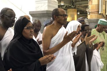 (Photos) Buhari performs Umrah at the Masjid Haram (the Grand Mosque) in Makkah