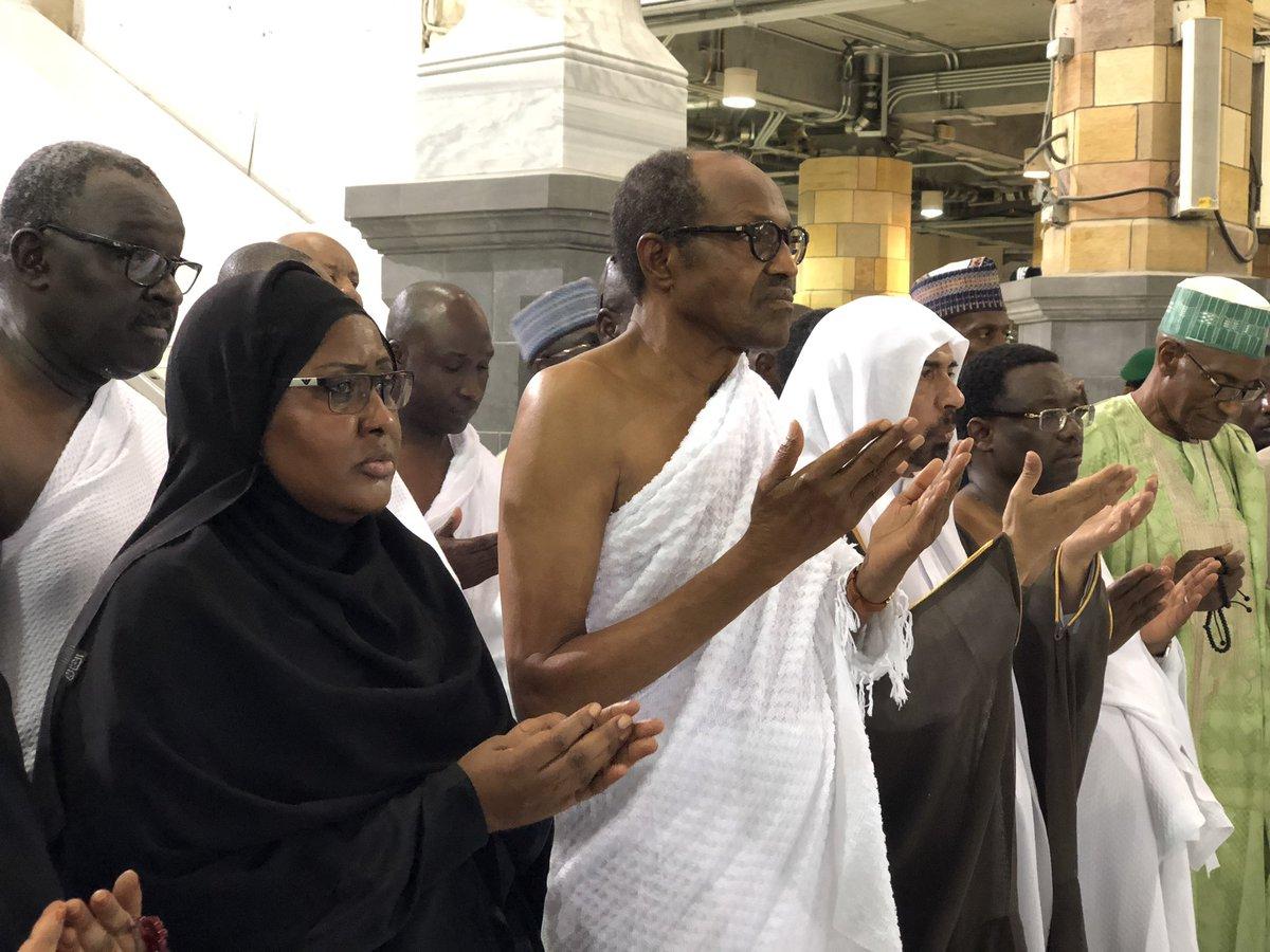 buhari - Tinubu breaks fast with Buhari in Saudi Arabia