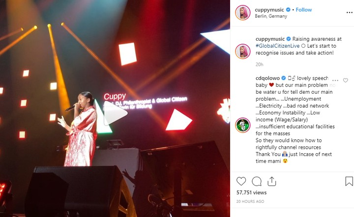 cdq ft cuppy - DJ Cuppy Gets Enlightened By CDQ After Her Speech In Germany