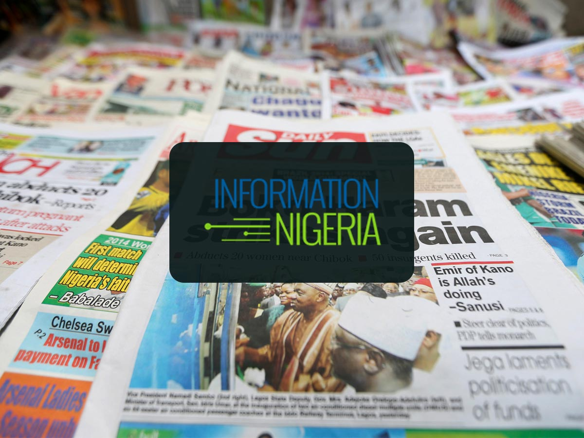 featured image - Nigerian Newspaper Headlines Today: 10th January 2020