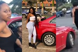 Woman Tracks Husband's Girlfriend, Humiliated Her And Collected The Car Her Husband Bought For The Lady