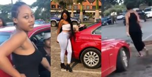 Video: Woman Tracks Husband's Girlfriend, Humiliated Her And Collected The Car Her Husband Gifted The Lady