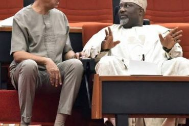 Shocking!!! Dino Melaye Used Cable Whip On Ben-Murray Bruce