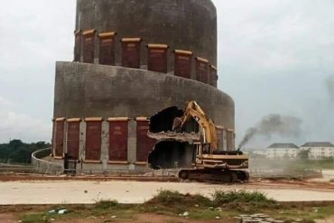 ''Just One Day In Office And You Are Already Lying'' - Nigerian Slam Imo State Governor, Ihedioha, For Saying He Is Not Aware Of The Monuments Destruction