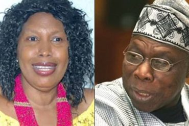 Just In: Obsanjo's Estranged Wife Releases Statement, Accuses Obasanjo Of Sending Assassins After Her And Son For Supporting Buhari