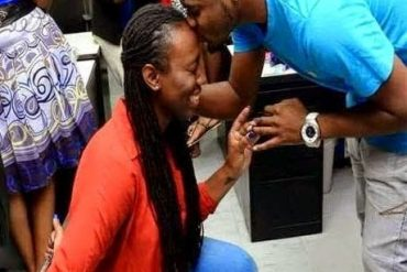 Video: Nigerian Lady Proposed To Boyfriend In Public And He Said No