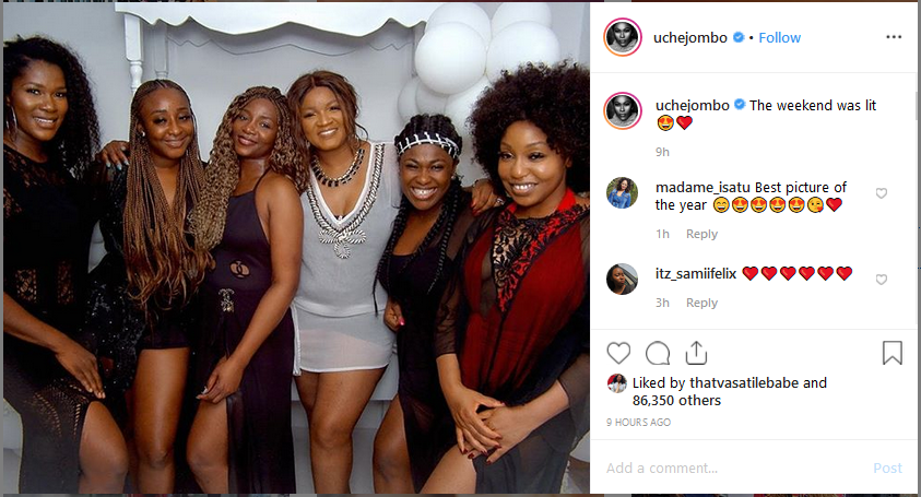 rita dominic 1 - #NOLLYWOOD: Ini Edo, Genevieve, Uche Jombo and Rita Dominic Recreates Their 13 Year Old Picture