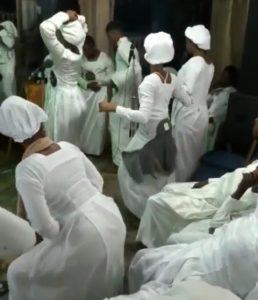 Video: Moment White Garment Church Go Agog With ''Zanku'' Dance During Vigil