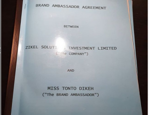 zikel 300x231 - Tonto Dikeh Signs N100m Deal With Cosmetics Company