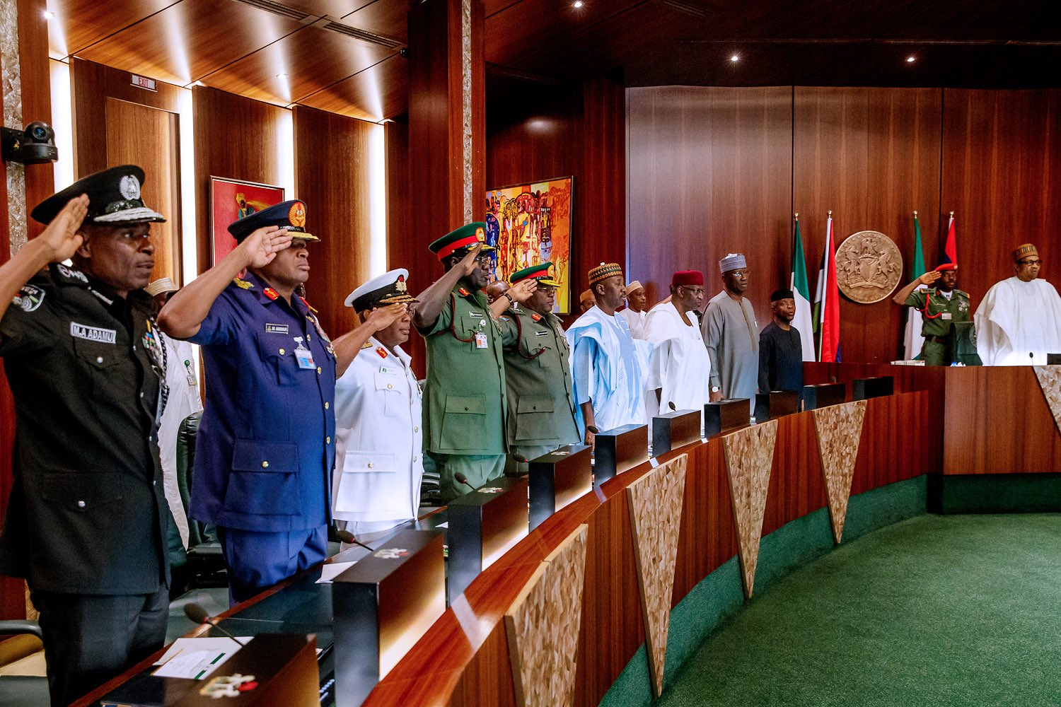 0 IMG 20190607 160452 - Spot your governor!!! Buhari meets all 36 states' governors in Abuja