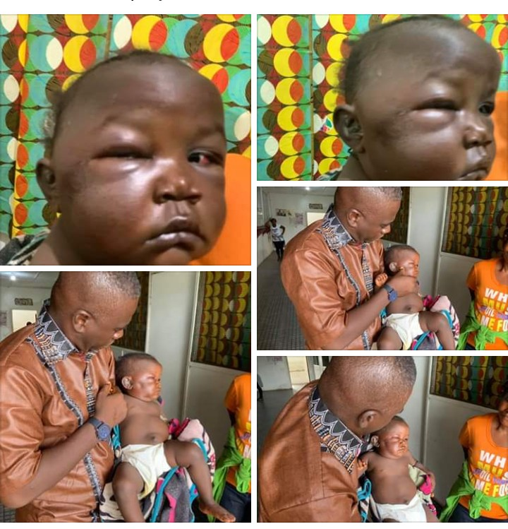 Horror!!! Liberian Father beats baby mercilessly