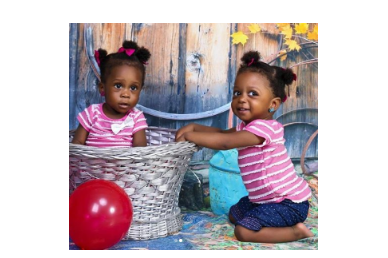 1 16 - [Photos]: Singer Chuddy K shares beautiful photos of his twin daughters as they turn 1