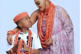 'I love you my everything' - Mercy Aigbe celebrates her son as he turns 9