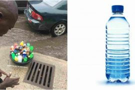 Lagos beggar refuses sachet water from helper, requests bottled water