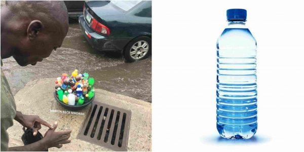 Lagos beggar refuses sachet water from helper, requests bottled water
