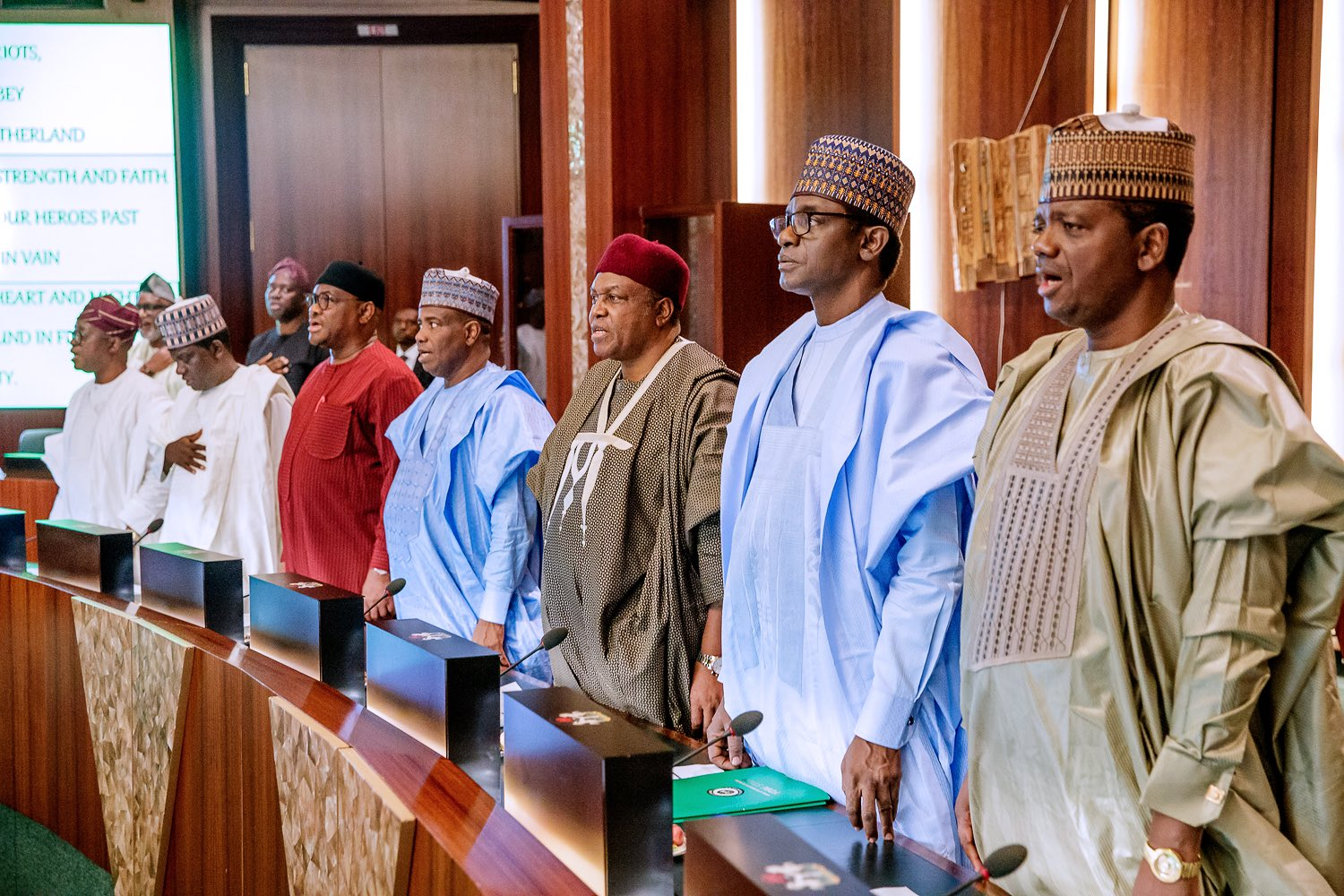 1 IMG 20190607 160450 - Spot your governor!!! Buhari meets all 36 states' governors in Abuja