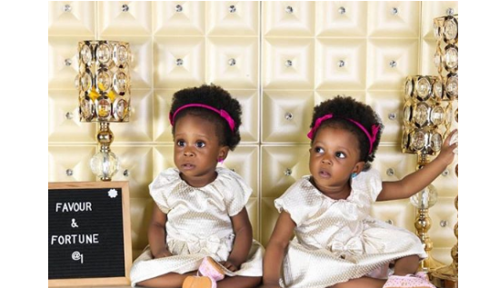 2 8 - [Photos]: Singer Chuddy K shares beautiful photos of his twin daughters as they turn 1