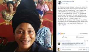 20190610 201344 300x178 - Nollywood Actress, Clarion Chukwurah Gives Her Life To Christ