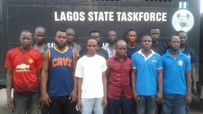 [Photos]: 13 7-UP staff arrested for assaulting LASTMA officers