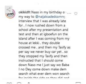 20190619 204637 300x295 - Instagram Comedian, Okiki Claims Police Officers Stole His Wristwatch And Necklace