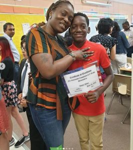 2face 4 266x300 - [PHOTOS]: 2Face's son, Justin Idibia Graduates From 5th Grade