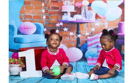 3 5 - [Photos]: Singer Chuddy K shares beautiful photos of his twin daughters as they turn 1